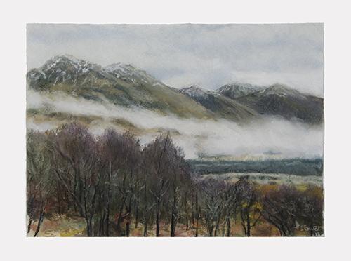 Beinn Sgulaird, colline de l'Appin. ArtSpectrum blanc   30x40 cm