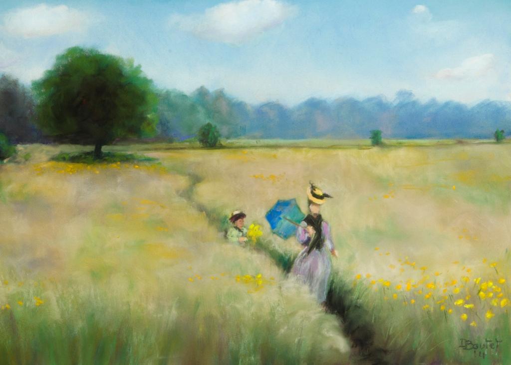 Monet was here ! PASTEL SUR PASTELMAT 25 X 35 CM